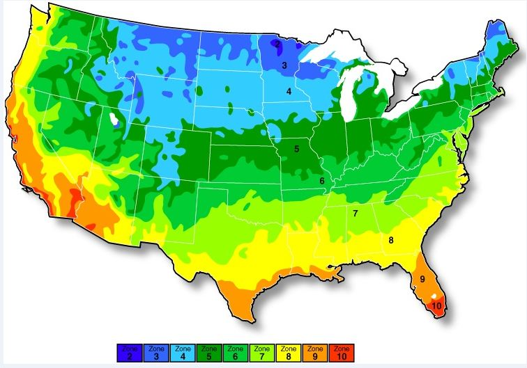 Us Planting Zone Map